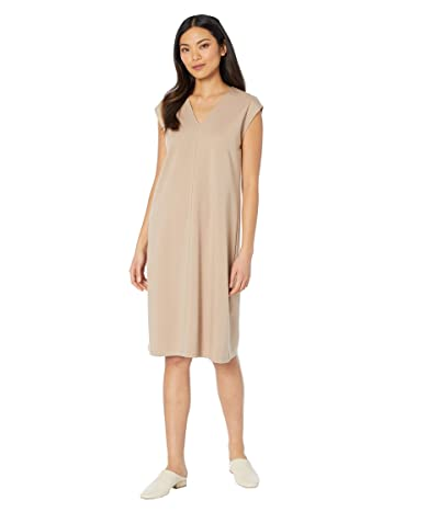 Eileen Fisher V-Neck Dress (Bramble) Women