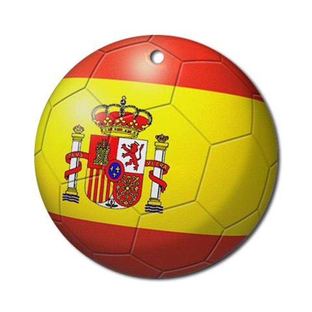 CafePress – adorno de balón de fútbol de bandera de España ...