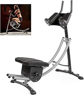 M.XIAO AB Crunch Coaster Fitness Body Muscle Workout, ABS abdominal träningsmaskin med LCD-skärm, lämplig för kontor, balk...