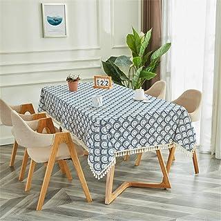 LMWB Bordsskydd, bordsduk, bomull och linne tofs soffbord matbord skydd tyg student skrivbord modern och enkel - N_80X145 cm