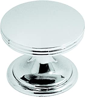 Hickory Hardware P2142-CH-10B American Diner Collection Knob 1-3/8 Inch Diameter, Chrome, 10 Each