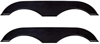 Alpha Systems Pair of Tandem Trailer Fender Skirt - Black