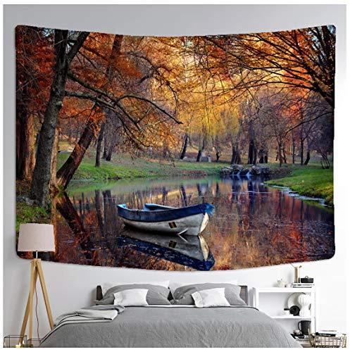 Tapiz de pintura de paisaje para colgar en la pared, colorido paisaje natural, colchón de viaje bohemio, estudio, sala de estar, decoración artística