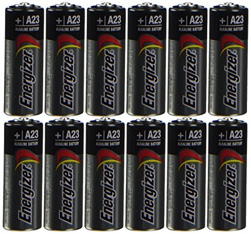 Energizer A23 Battery, 12V, 1.8' Height.5' Wide, 2.9' Length (Pack of 12)