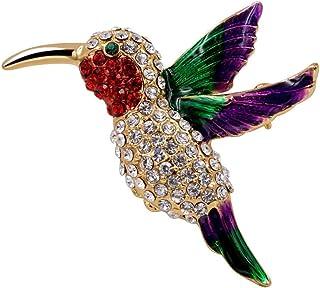 MOONQING R/étro Broche Oiseau Broche Conception Animale Acrylique Insigne Bijoux Accessoires