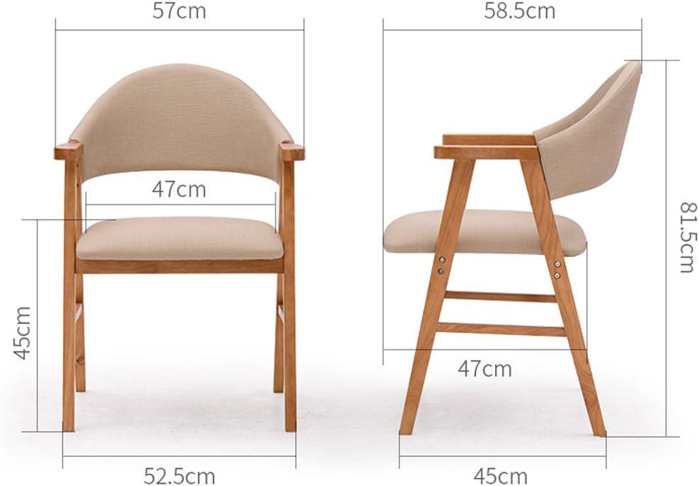 XXT Moderne Minimaliste en Bois Massif à Manger Chaise étude Chaise Dossier Chaise Longue Durable (Color : C) B