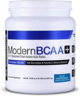 Modern BCAA+ Essential Amino Acid (EAA) Branched Chain Amino Acid (BCAA) Muscle Recovery Supplement Powder Drink Mix - 30 ...