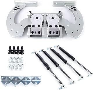 Hinge Kit TBVECHI Car Automobile Vertical Doors Hinge Kit Universal Lambo Door Bolt Kit Adjustable 90 Degree Most Car Vertical Doors