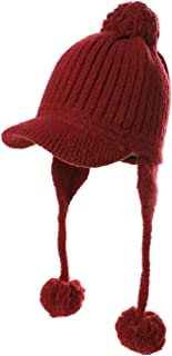 SIGGI Ladies Earflap Trapper Hat Faux Fur Hunting Hat Fleece Lined Thick Knitted