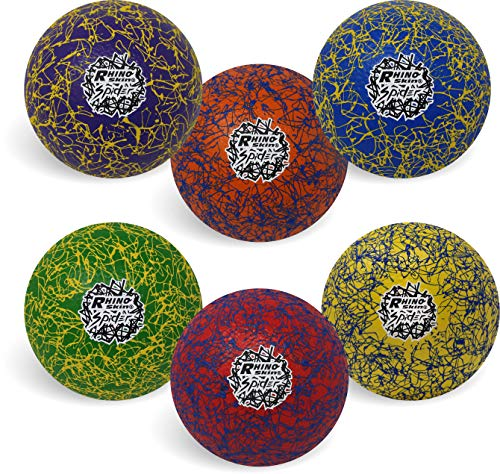 Champion Sports Premium Rhino Skin Extreme Color Dodgeballs - Glow in the Dark, Color-Changing, and Spider Grip - Low Bounce Dodgeballs