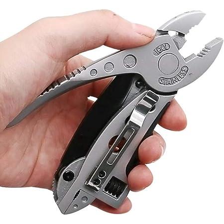 Mini multiherramienta Alicates Navaja kit determinado del destornillador de la llave inglesa ajustable Llave de quijada reparación de supervivencia ...
