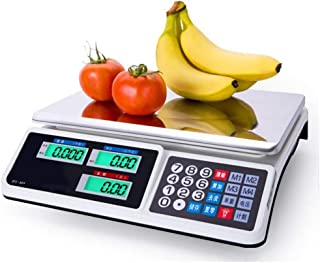 HYY-YY - Báscula de fruta para adultos, recargable, báscula electrónica digital, supermercado, plataforma electrónica comercial, 30 kg, báscula electrónica de escritorio