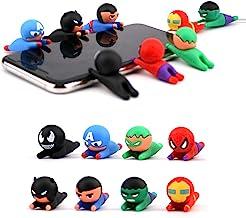 Axanbox 8Pcs Super Hero Data/Charging/Lightning Cable Protector Saver Chewers for Kids Boys and Men (SuperHeros-8PCS)