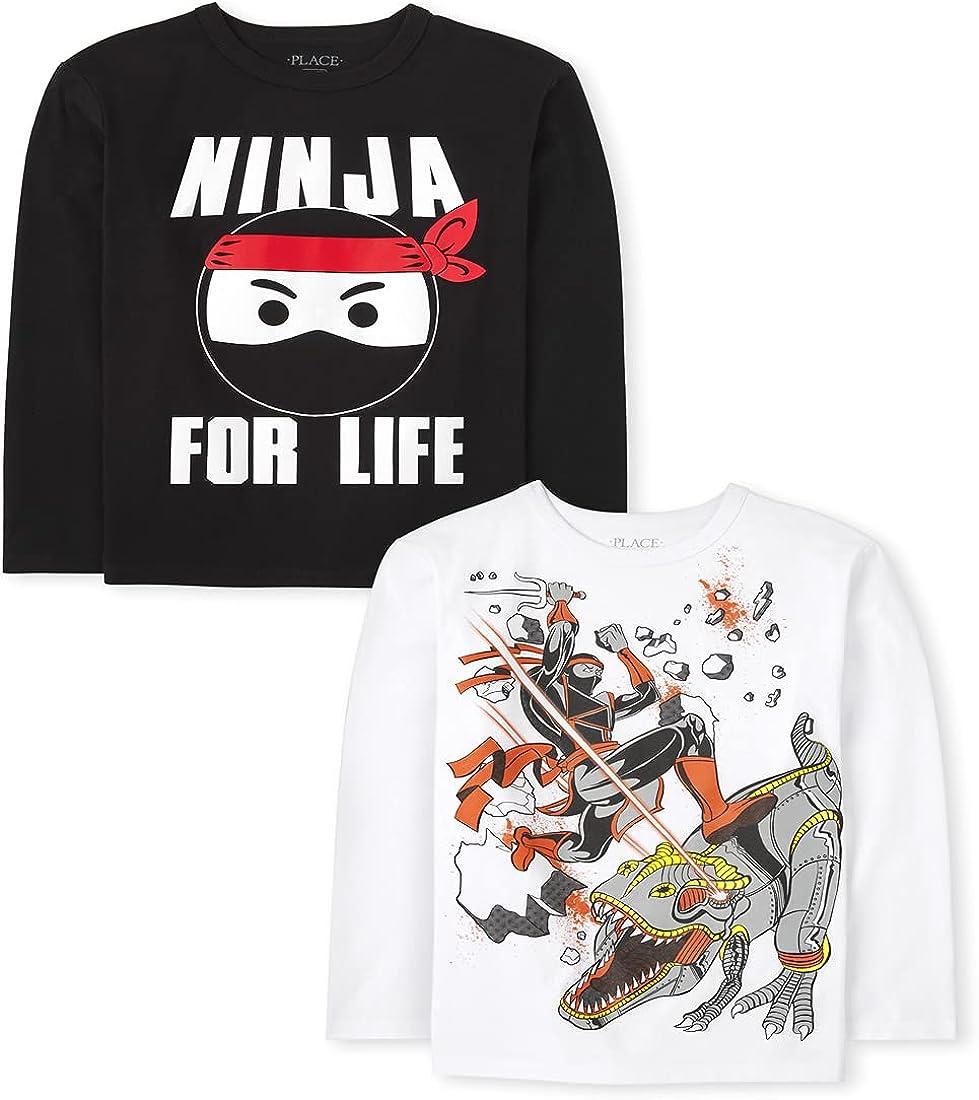 The Children's Place Boys' Ninja Graphic T-Shirt 2-Pack