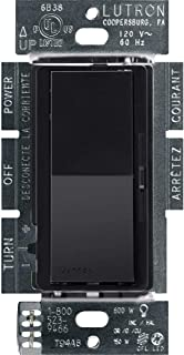 Lutron Diva C.L Dimmer for Dimmable LED, Halogen and Incandescent Bulbs, Single-Pole or 3-Way, DVCL-153P-BL, Black, 1 pack