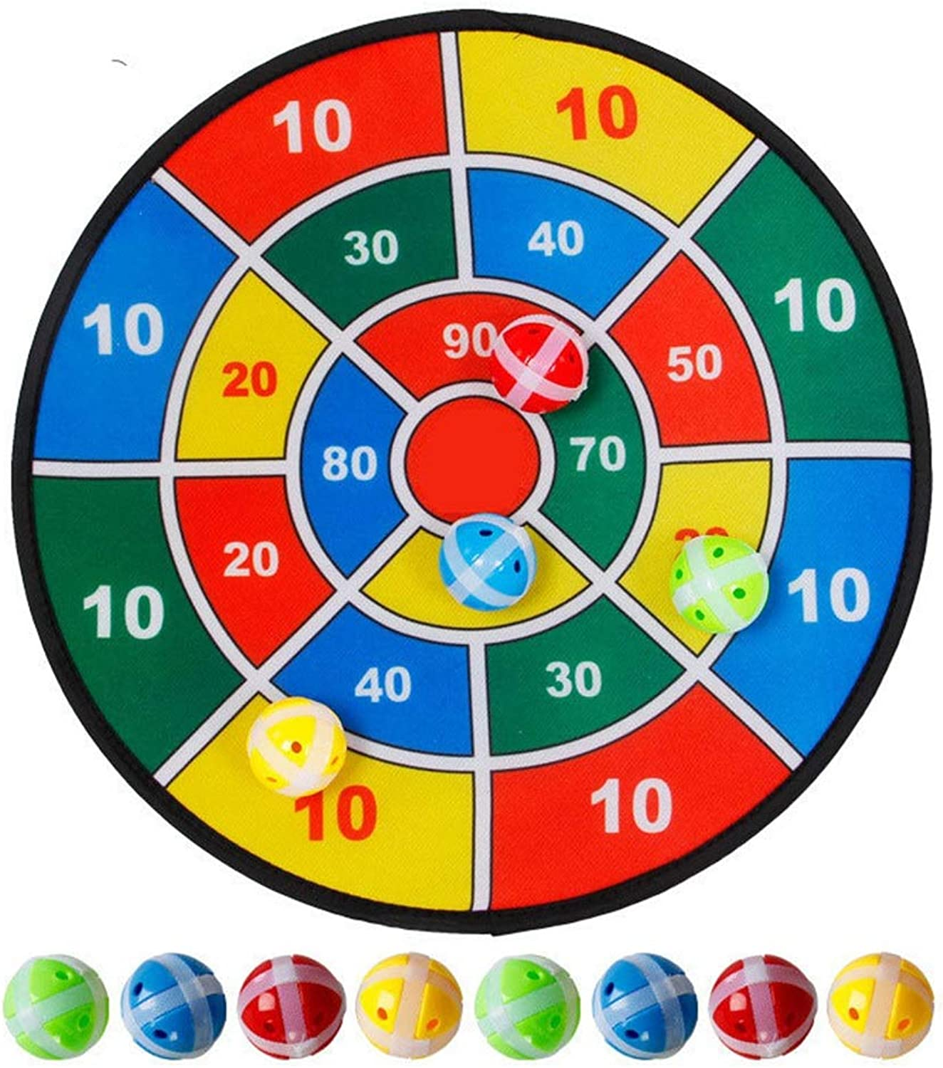 Early Educational Toddler Toys Abric Dart Board Game with 6 Balls Using Hook-and-Loop Fasteners   Large - 14.5 Inches (37 cm) Diameter   Safe for Kids for 1-3 Year Old Kids