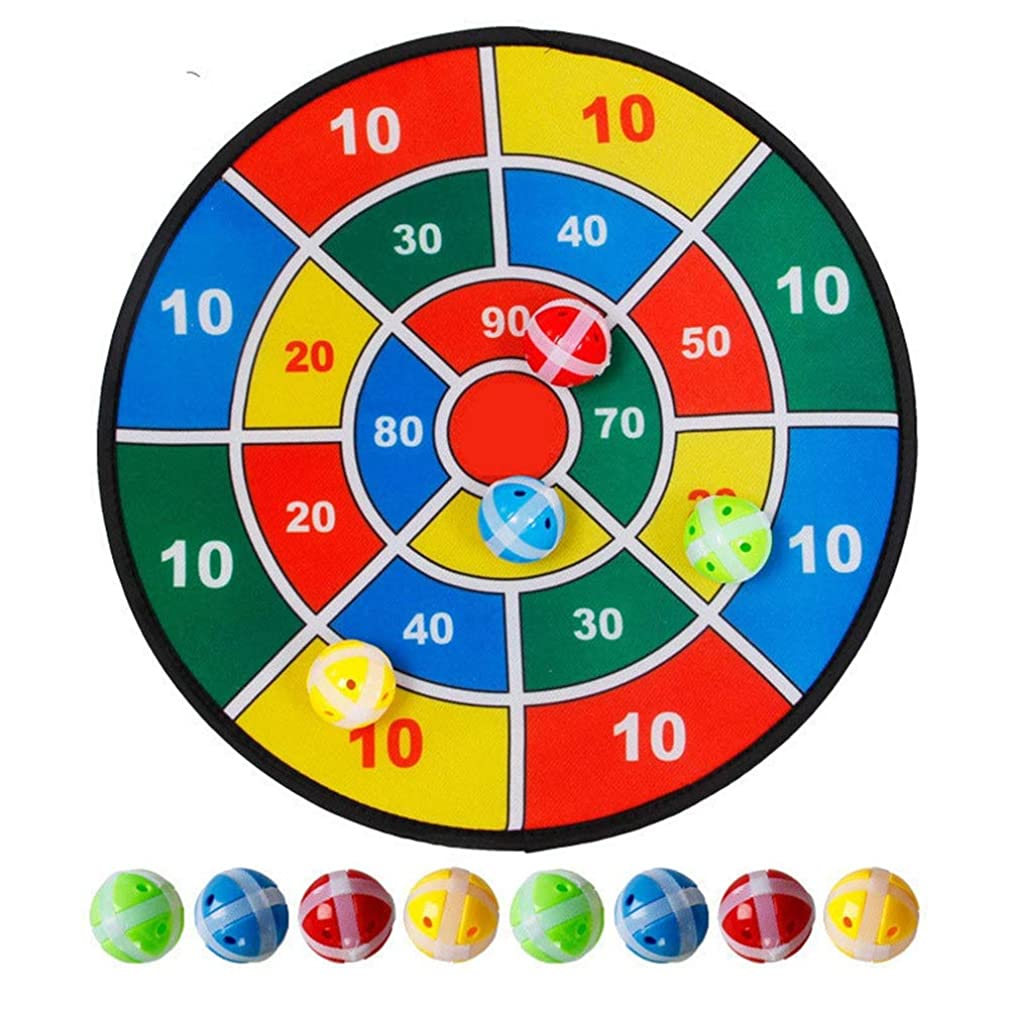 Magnetic Dart Board Abric Dart Board Game with 6 Balls Using Hook-and-Loop Fasteners | Large - 14.5 Inches (37 cm) Diameter | Safe for Kids for 1-3 Year Old Kids
