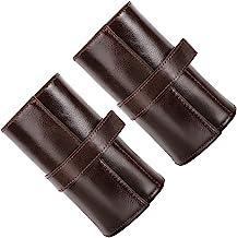 Hemobllo 2pcs Watch Roll Leather Portable 6 Slot Watch Case Organizer Men Watch Gift Box