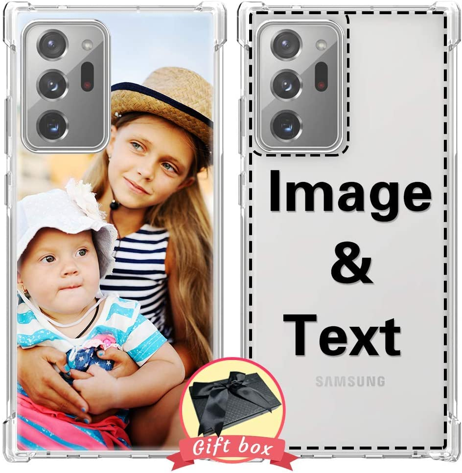 AIPNIS Design Your own Your Samsung Galaxy Note 20 Ultra Case, Personalized Photo Gift Shock Absorption Soft Clear TPU Galaxy Note 20 Ultra (6.9