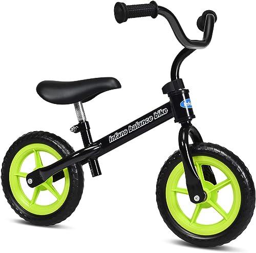 INFANS Lightweight Balance Bike, Kids Training Bicycle with Height Adjustable Seat & Handlebar, Inflation-Free EVA Ti...