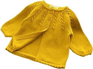KIMJUN Infant Baby Girls Boys Cardigan Sweater Unisex Toddler Knit Button up Outwear 6-24 Months