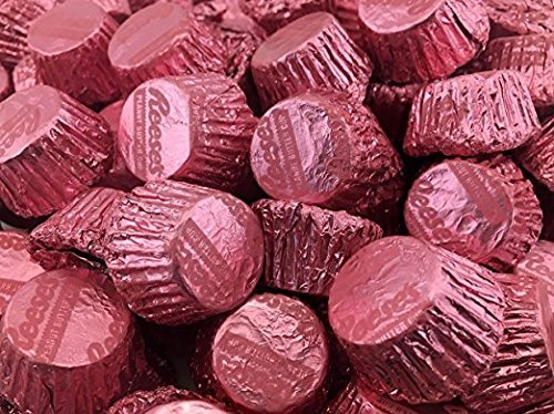 Reese's Miniatures Peanut Butter Cups Milk Chocolate,In Pink Foils (Reese's Pink)