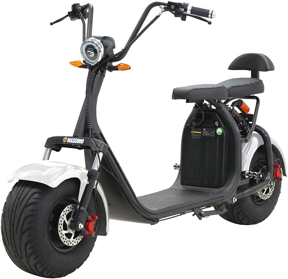 Massimo ES2K Fat Tire Scooter Denver Mall 2000w 60v 12Ah Battery Suspens F+R National uniform free shipping