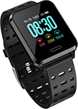 Bluetoo Smart Bracelet for Android and IOS Phone 2019 IP68 Waterproof: Equipped With heart rate monitor, Activity tracker, Calorie counter, Pedometer sleep monitoring, Full touch 1.3 inch IPS color s