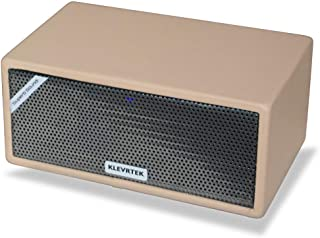 Klevrtek KT100A Wireless Bluetooth Stereo Party Speaker 100 Watt RMS with Bass and Leather Finish (Beige)