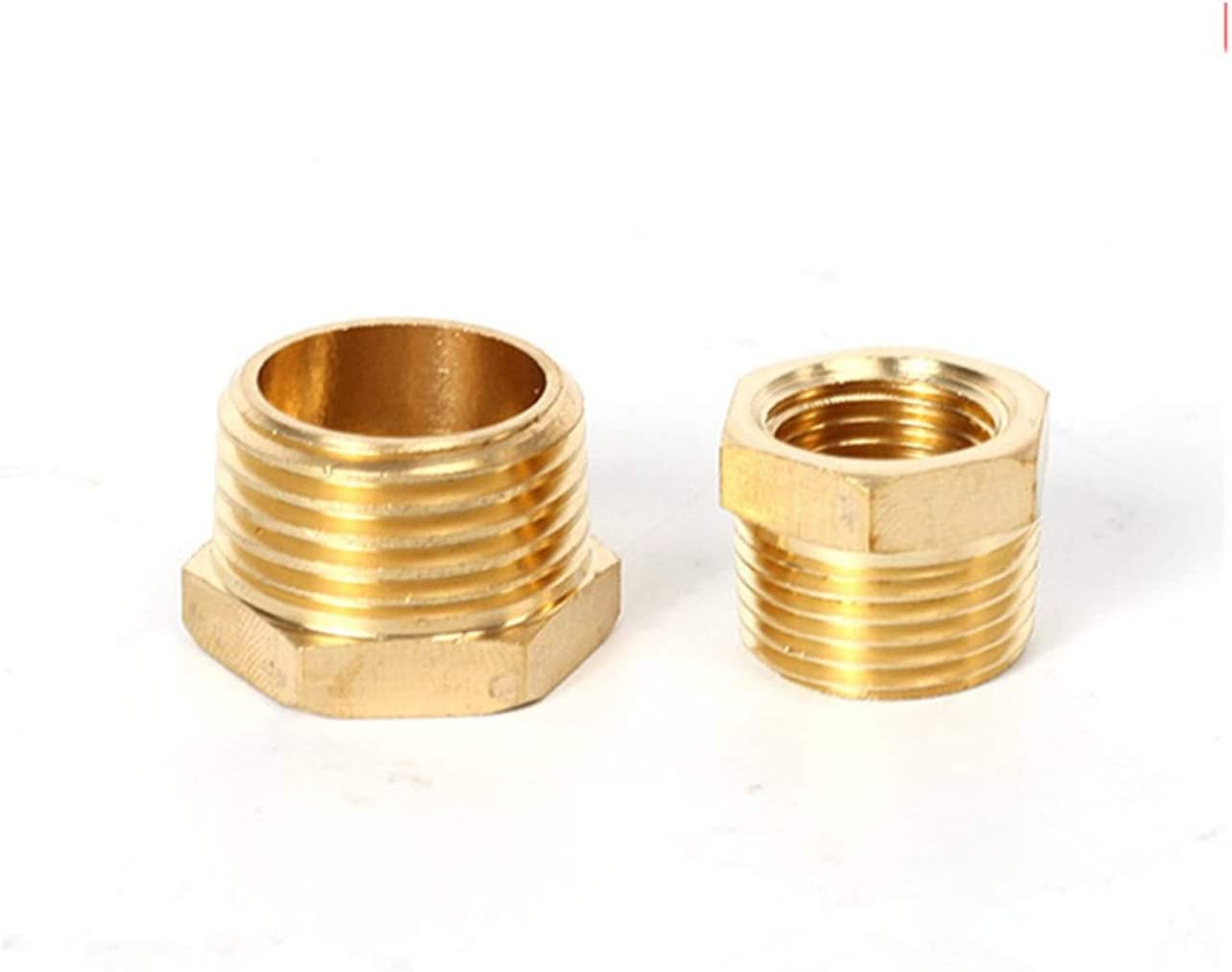 Color : Male 10 to Female 06 M//F 1//8 1//4 3//8 1//2 3//4 Male to Female Coupler Connector, Jiaqi-cnnectors Hex Reducer Bushing Brass Hose Fitting