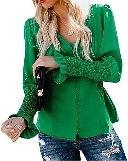 WSPLYSPJY Men's Fashion Henley Shirts Button Down Front Blouses Lace Tops