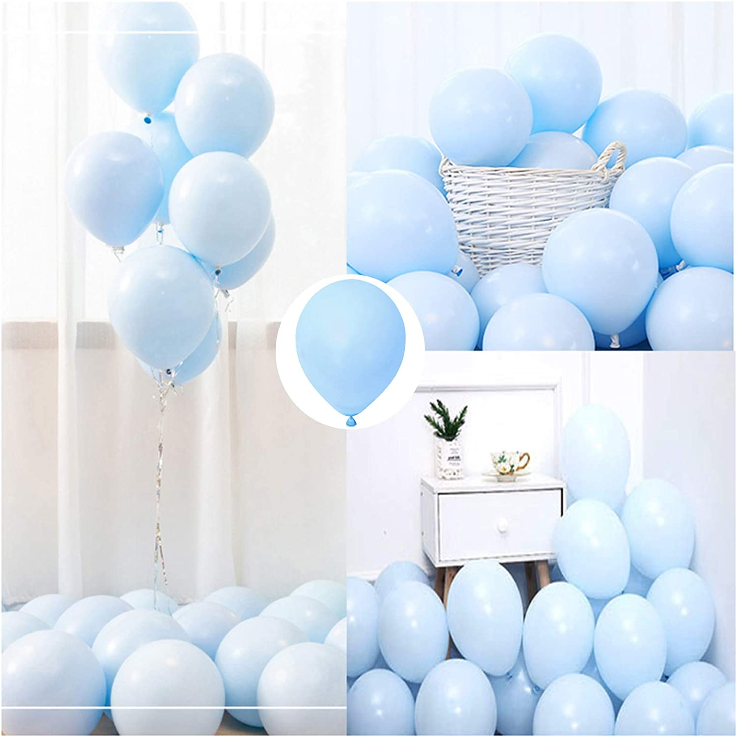 Party Pastel Balloons 100 pcs 10 inch Macaron Candy Colored Late