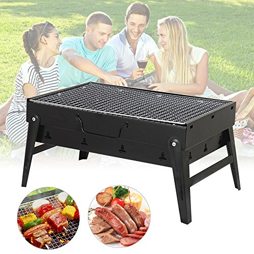 LXVY Small BBQ Barbecue Grill Folding Portable Charcoal Outdoor Camping Picnic Burner FoldableCharcoal Camping Barbecue