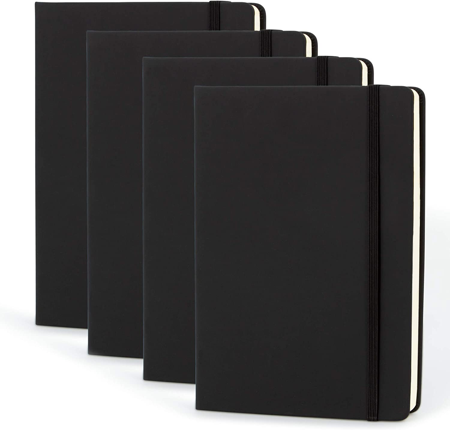 Simply Genius 4 Raleigh Mall Luxury Pack A5 Grid Hardcover Dotted Bullet Notebooks