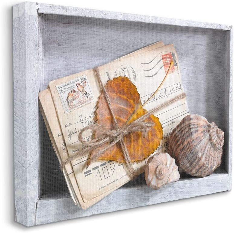Stupell Industries Postcard Memories Leaf Desi Design Very popular and Free shipping on posting reviews Shell
