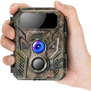 Victure Mini Trail Game Camera 16MP 1080P with Advanced Night Vision Motion Activated IP66 Waterproof for Hunting Games an...
