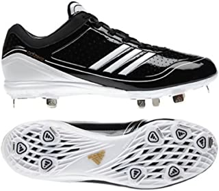 adidas New Mens Adizero Diamond King Low Baseball Cleat 12 Black/White