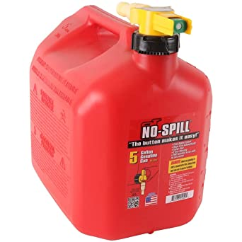 No Spill 1450 5-Gallon Poly Gas Can (CARB Compliant),Red, Pack of 1: image