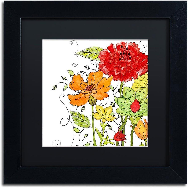 Trademark Fine Art ALI4685-B1111BMF Aria II by color Bakery, Black Matte, Black Frame 11x11
