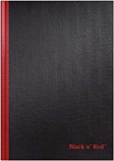Black n' Red Hardcover Notebook, Casebound, Large, Black, 96 Ruled Sheets, Pack of 1 (D66174)