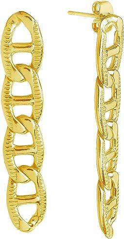 Anchor Chain Dangle Earrings
