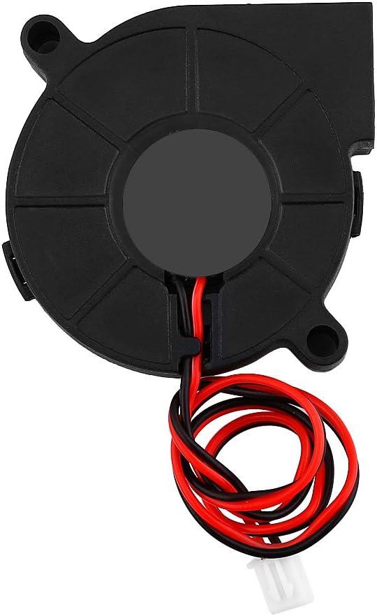 Wendry Cooling Fan,DC 12/24V 5015mm Blow Radial Cooling Fan Turbofan Cooler Kit Accessories for 3D Printer 3D Printer Cooling Fan 50 15mm Ball Bearing Cooling Fan(12V)