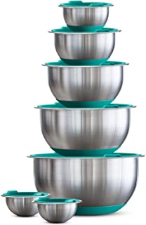 Best tramontina 14 piece covered stainless steel mixing bowl Reviews