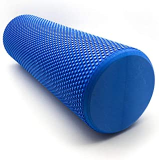 90 x 15cm Eva Physio Yoga Roller Foam Ab Pilates Exercise Back Home Gym Massage - Blue