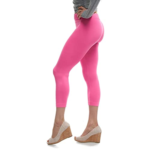 2f1b0f55593605 LMB | Lush Moda | Seamless Capri Leggings | Variety of Colors | One Size