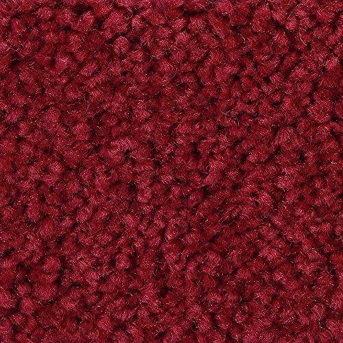 BODENMEISTER BM72182 Teppichboden Auslegware Meterware Hochflor Shaggy Langflor Velour rot 400 cm und 500 cm breit, verschiedene Längen, Variante: 6 x 5 m