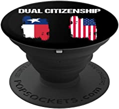 Texas American Flag Home Dual Citizenship State Pride PopSockets Grip and Stand for Phones and Tablets