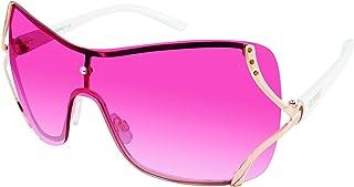 Southpole Women's 454sp-rgld 454SP RGLD Shield Sunglasses, Rose Gold, 60 mm