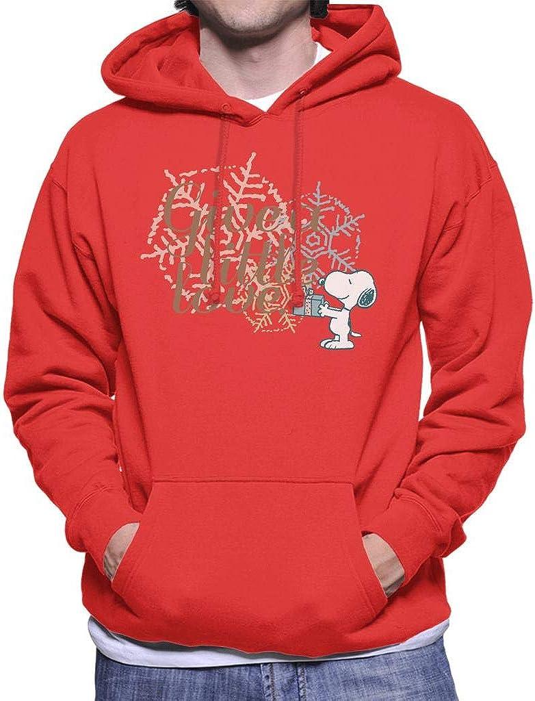 Peanuts Snoopy Give A Little Love Men's Hooded Sweatshirt