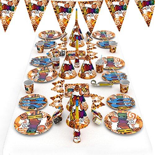 Justdolife 77PCS Halloween-accessoireset verschillende soorten thema kinderfeestdecoraties